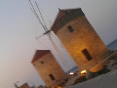 windmills at the port